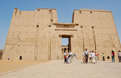 Low angle view of Edfu temple, Egypt Royalty Free Stock Photos