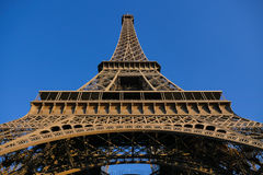 Low Angle View Of Eiffel Tower Against Blue Sky Paris Royalty Free Stock Photos