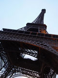 Low Angle View of Eiffel Tower. Paris, France - Eiffel Tower low angle view over sky Stock Photos