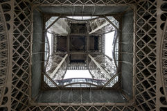 Low angle view of Eiffel Tower Stock Image