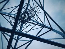 Low Angle View of Electricity Pylon Against Sky Royalty Free Stock Image