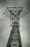 Low angle view of a electricity tower Stock Images