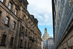 Procession of Princes in Dresden stock photos
