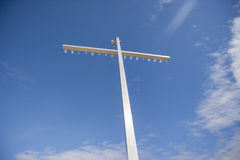 Low angle view of floodlight against sky Royalty Free Stock Images