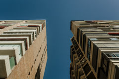 Low angle view of generic apartment building at Costa del Sol. Royalty Free Stock Photos