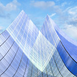 Glass facade of office building Royalty Free Stock Image