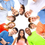 Low angle view of happy men and women Royalty Free Stock Photography