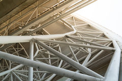 Low angle view of the high speed train station roof with filter Stock Image
