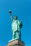 Low angle view of the iconic Statue of Liberty Stock Photo