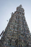 A low angle view of Kapleeshwarar temple, Mylapore,Chennai,Tamil Nadu,India Royalty Free Stock Image
