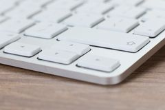 Low angle view of a laptop keyboard Royalty Free Stock Images