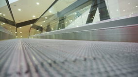 Low angle view looking to top of modern escalator stock video footage