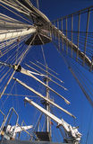 Mast and rigging on a large yacht Stock Photo