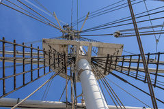 Low angle view on mast Stock Images