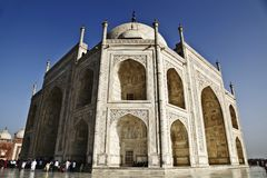 Low angle view of a mausoleum, Taj Mahal, Agra, Uttar Pradesh, India Stock Photos