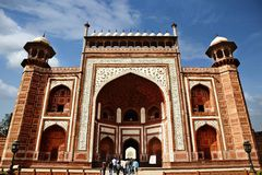 Low angle view of a mausoleum, Taj Mahal, Agra, Uttar Stock Image