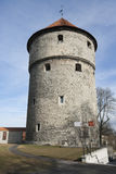 Low angle view of medieval tower, Tallinn, Estonia, Europe Royalty Free Stock Photos