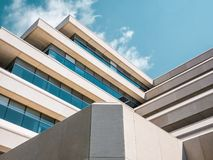 Low Angle View of Modern Building Against Sky Stock Photography