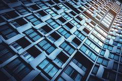 Low angle view of modern building royalty free stock image