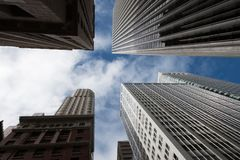 Low angle view of skyscrapers, San Francisco Stock Photo