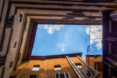 Low angle view of old buildings in Siena Royalty Free Stock Photography