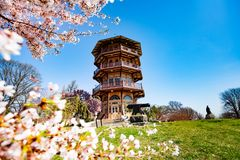 Pagoda-style tower in Patterson park, Baltimore royalty free stock photos