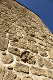 Acco Wall. Low angle view of part of a stone wall, located at the old city of Acco, Israel Stock Photos