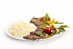 Low Angle View of Persian Lamb Kebab Stock Photos