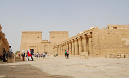 Low angle view of Philae temple, Egypt Royalty Free Stock Images