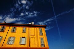 Low Angle View Photography of Orange House Stock Photo