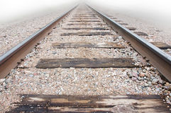 Low angle view of railway track Royalty Free Stock Photos