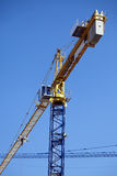 Behind the Tower Crane Royalty Free Stock Images