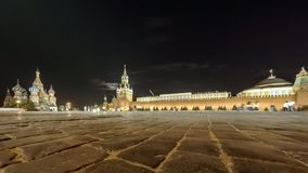 Low angle view of Red Square, St Basil's Cathedral stock footage