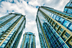 Low angle view of residential skyscrapers Royalty Free Stock Photography