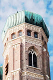 Low angle view of rounded green dome on tower Royalty Free Stock Photos