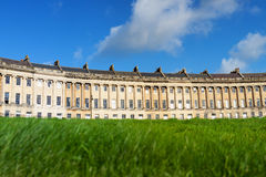 Low angle view of Royal Crescent, Bath Royalty Free Stock Image