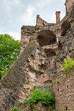 Low Angle View of Ruins of Heidelberg Castle Stock Photography