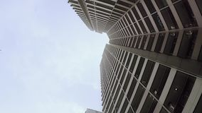 Low angle view of skyscraper in Jakarta. Video footage of low angle view of skyscraper in Jakarta, Indonesia stock video