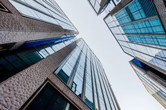 Low angle view of skyscrapers in city Royalty Free Stock Photography