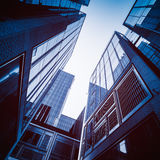 Low angle view of skyscrapers in city Stock Image
