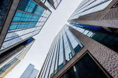 Low angle view of skyscrapers in city Royalty Free Stock Image