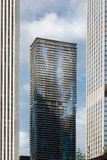 Low angle view of skyscrapers in a city, Chicago, Cook County, I Stock Photography