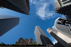 Low angle view of skyscrapers, San Francisco Royalty Free Stock Photo