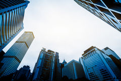 Low angle view of skyscrapers in Shenzhen Royalty Free Stock Image