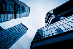 Low angle view of skyscrapers Stock Photo
