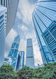Low angle view of skyscrapers in Shenzhen Royalty Free Stock Photo