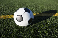 Low Angle View of Soccer Ball Stock Photography