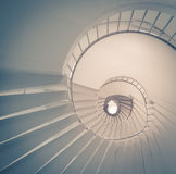 A low angle view of a spiral staircase Royalty Free Stock Photography