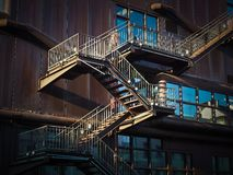 Low Angle View of Spiral Stairs Royalty Free Stock Images