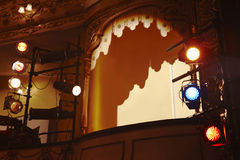 Low angle view of spotlights and theater Stock Photography